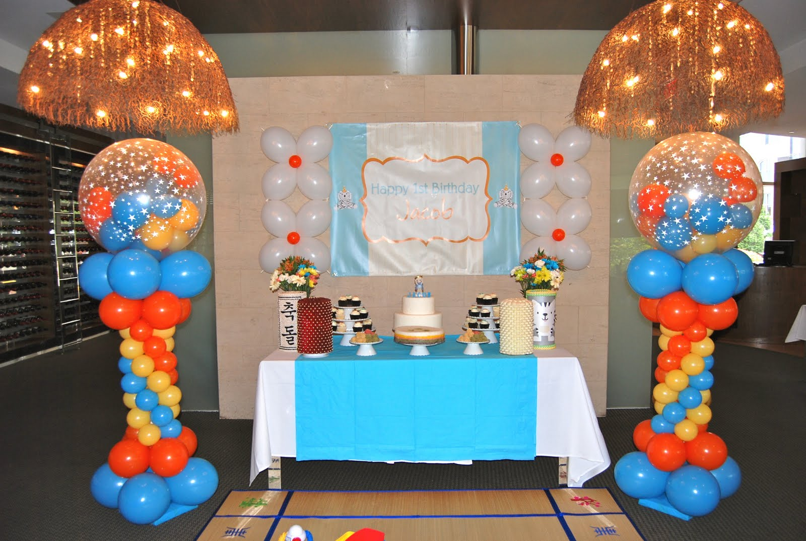1st birthday chima brazilian steakhouse balloon decor jacob s 1st ...