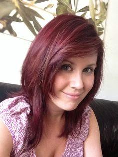 cortes de pelo rojo purpura pelo largo 2017