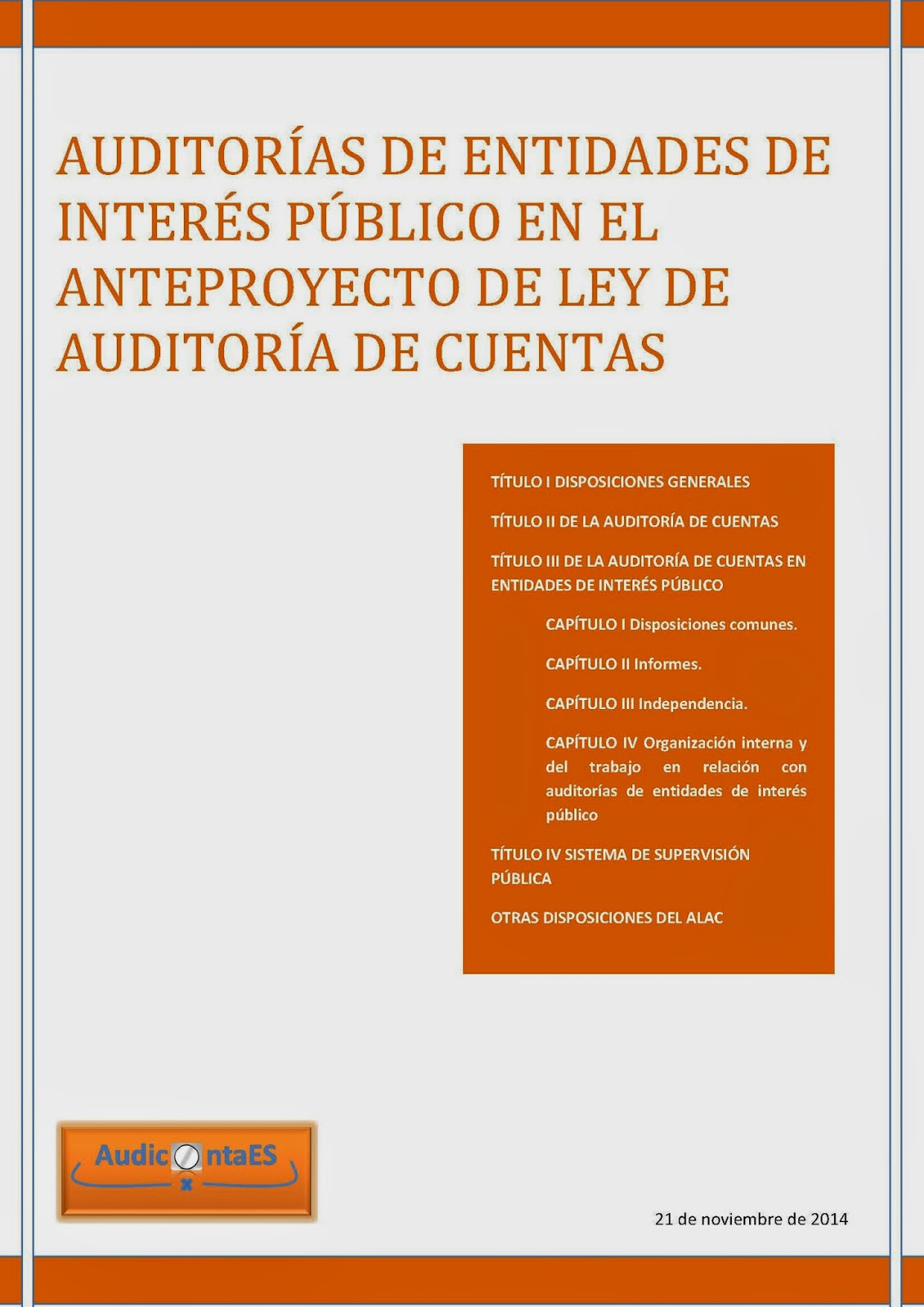 EIP Entidades de Interés Público nueva Ley de Auditoría de Cuentas