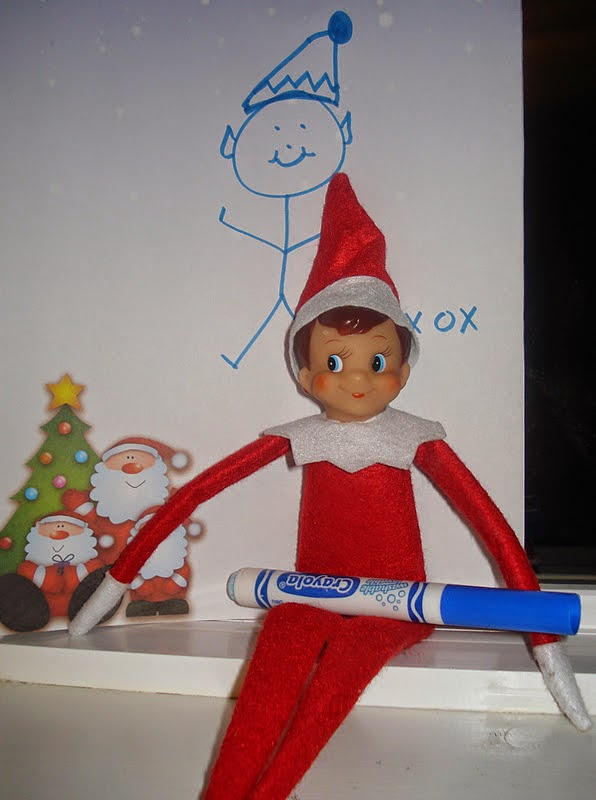 December 4 - Elf on the Shelf draws a self portrait or builds an Igloo ...