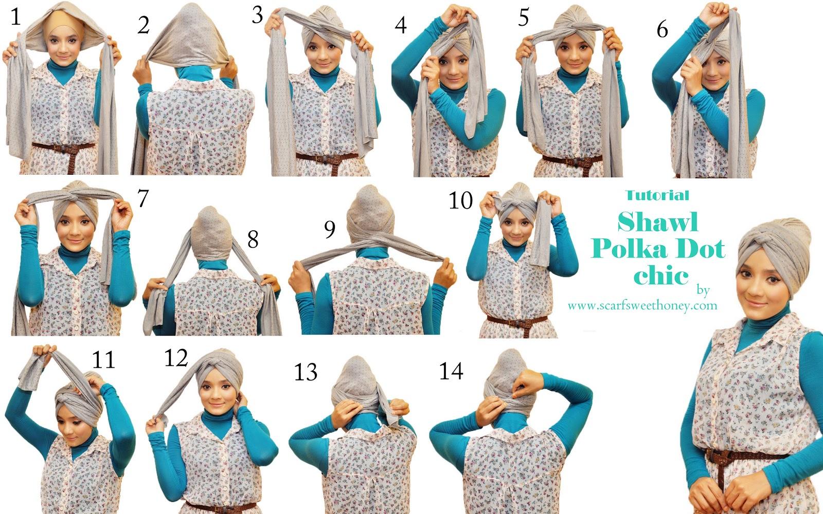 Kreasi Jilbab Turban Untuk Pesta