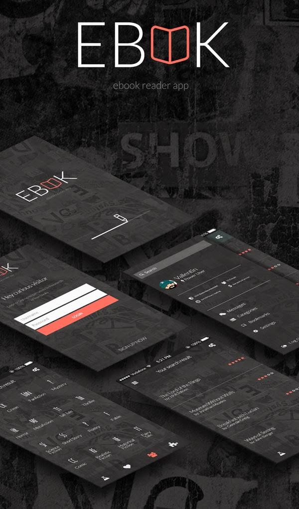 5 Mobile App Screen UI PSD
