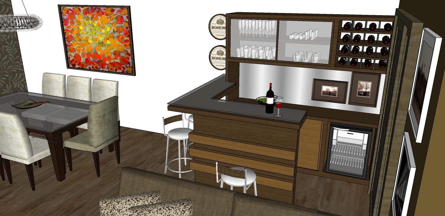 #474230 embase arquitetura para projetos de vida apartamento santa cruz 1436x698 píxeis em Bar Movel Moderno Sala Estar