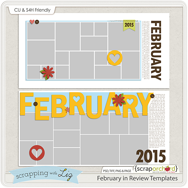 http://scraporchard.com/market/February-Review-Digital-Scrapbook-Templates.html