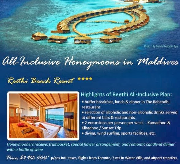 They Are Offering An Introductory Honeymoon Package For 7 Nights All Inclusive With Airfare From Toronto At Only CAD 3950 Per Person