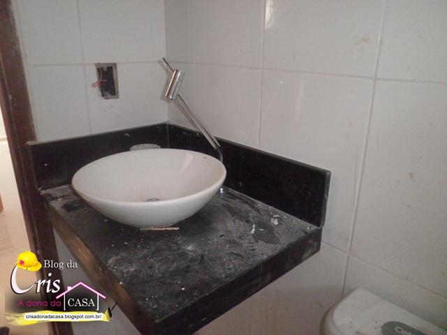 Cris  A Dona da Casa! Banheiros e Pia da Cozinha +ou Finalizados -> Como Instalar Pia De Banheiro Com Coluna Suspensa