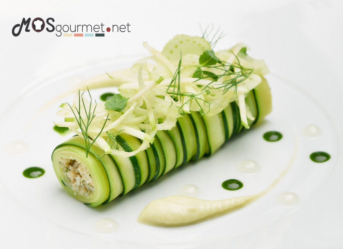 Canel n de merluza y cigala mos gourmet recetas gourmet for Platos gourmet