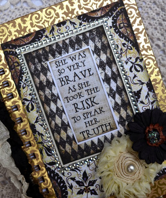 """Brave Risk"" Altered Art Journal $28.00"
