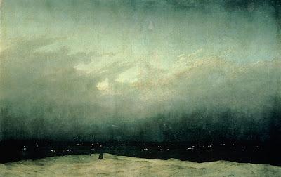 Caspar David Friedrich - Le moine au bord de la mer,1808-10.