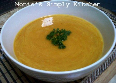 Resep sup labu kuning sederhana