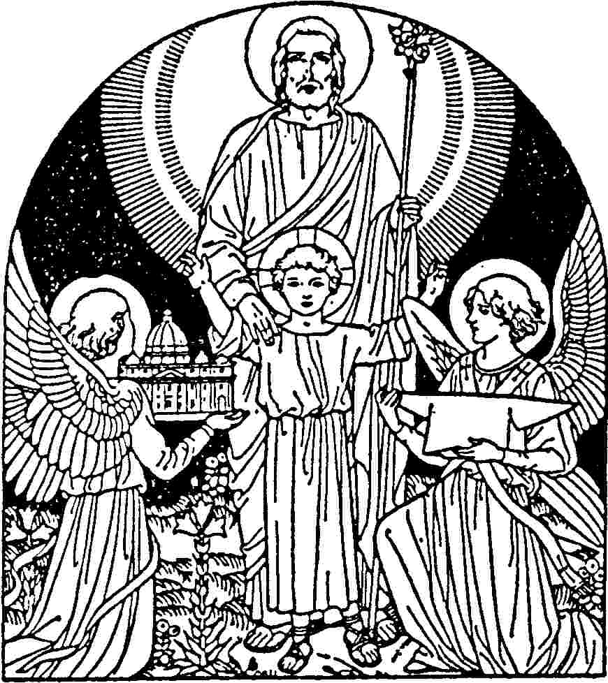 st joseph coloring page have a blessed day our lady of fatima