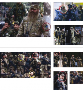 From the New York Times graphic package of photos in support of its article accusing Russia of sending special forces soldiers into eastern Ukraine.