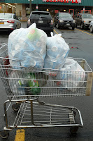cart with cans