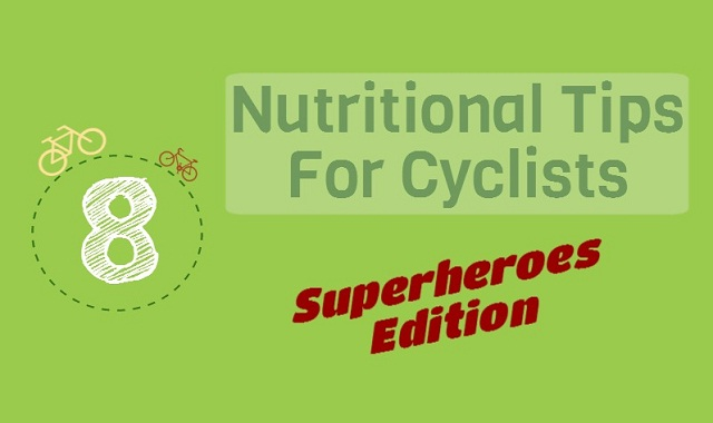 Image: 8 Nutritional Tips For Cyclists #infographic