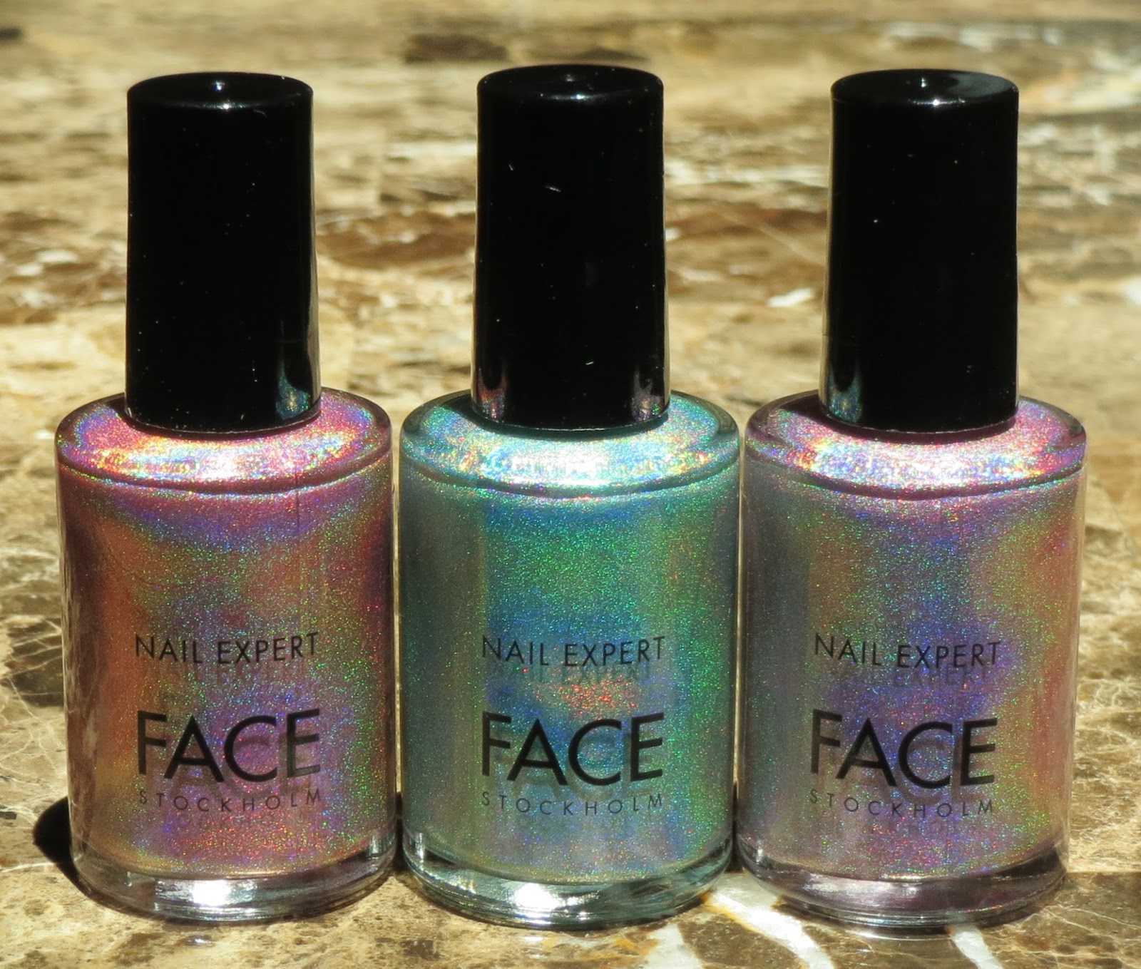 Blue Skies for Me Please: FACE Stockholm Holographic Nail Polish Haul