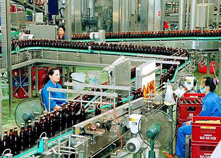 sản xuất bia