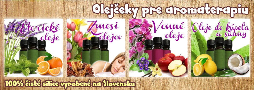 Olejčeky pre aromaterapiu - www.rajvoni.sk