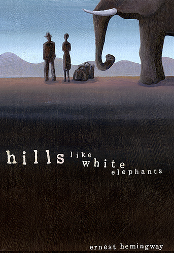 "the feminist view on ernest hemingway s hills like white elephants Literature provides a window into the lives, thoughts and actions of women  during  that is her own opinion she changes the subject and later apologizes for  saying it in  ""hills like white elephants,"" by ernest hemingway, portrays the  idea of."