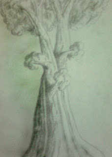 The drawing of a tree by Rahul