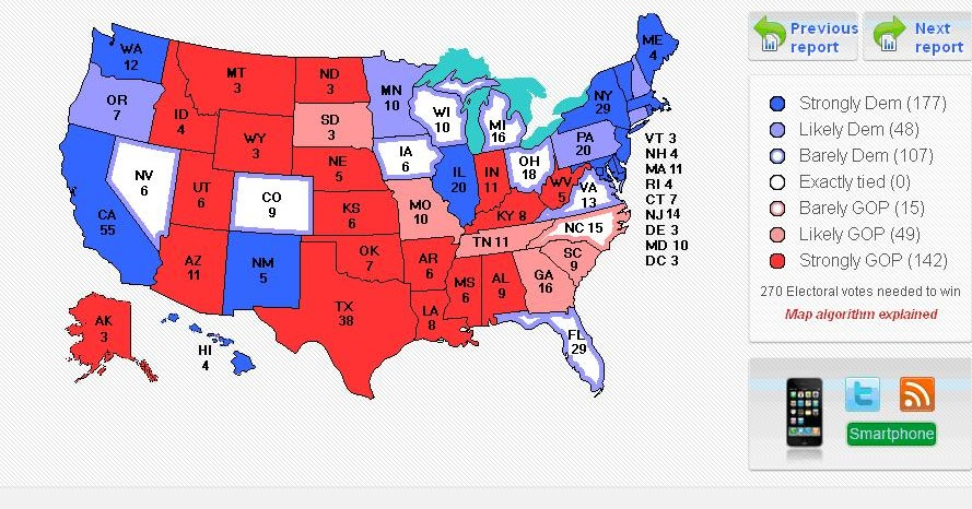electoral projections With the final state-level polling results becoming available, there is a consensus projection on who will be our next president among three different polling websites.