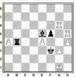 Posición de la partida de ajedrez Andrianov - Kremenezky (Moscú, 1982)