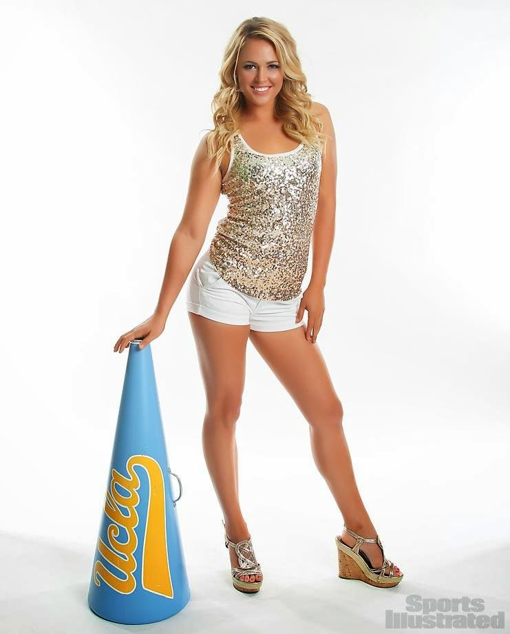 ... Heaven: UCLA Cheerleader Danielle's Day in the Sports Illustrated Sun