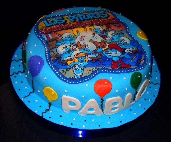 Tortas decoradas con los pitufos - Imagui