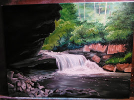Oil on Canvas/Red Creek, Dolly Sods, WV