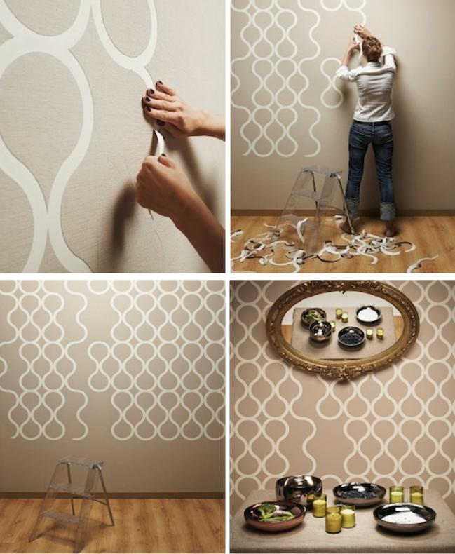 100 tonos de verde znak papel pintado for Papel decorativo pared