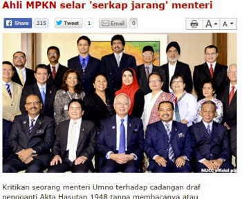 Tweet Merapu Menteri UMNO Diselar Ahli MPKN
