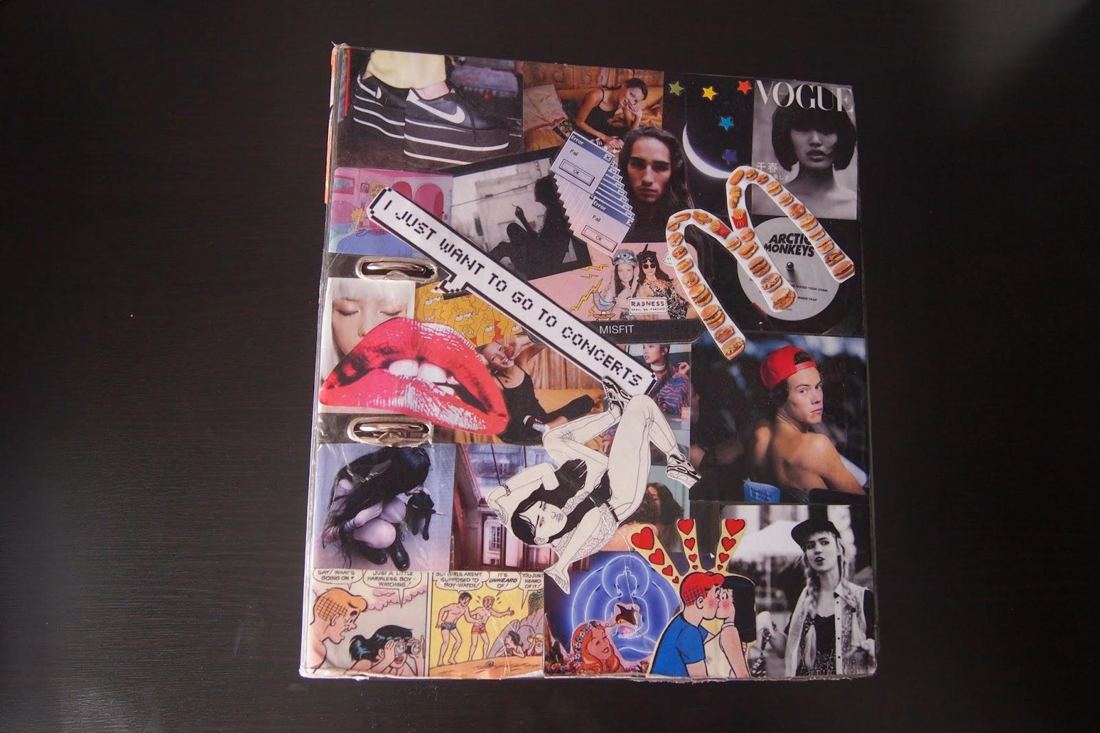 Diy Book Cover Collage : Fashionbambini diy school folder book collage cover