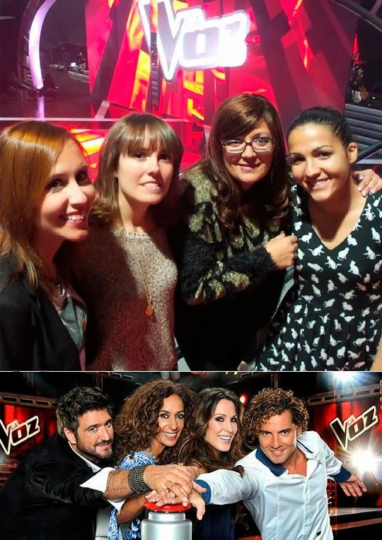 Estefanía, Andrea, Sonia y Ángela en La Voz
