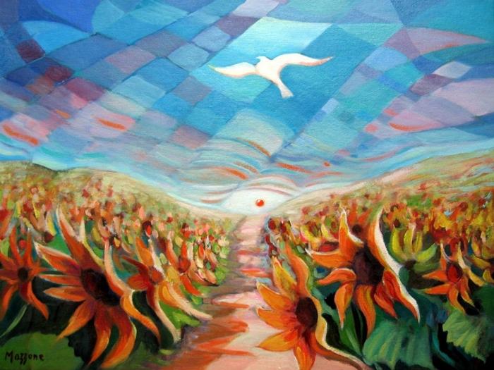 Autumn Symphony   Umberto Mazzone 1941   Italian surrealist painter