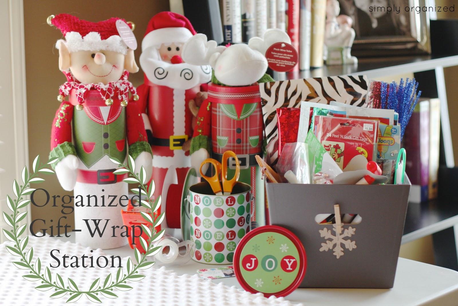Organized gift wrap station simply organized organized gift wrap station solutioingenieria Choice Image