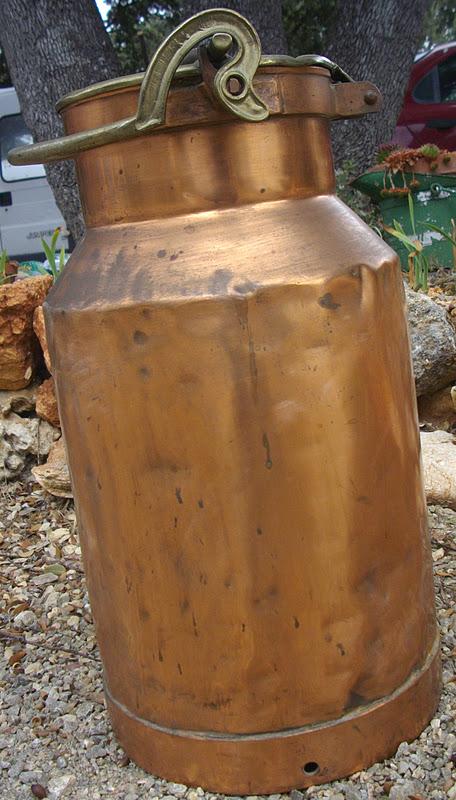 ancien norme pot a lait en cuivre antique french copper ferme art populaire i. Black Bedroom Furniture Sets. Home Design Ideas