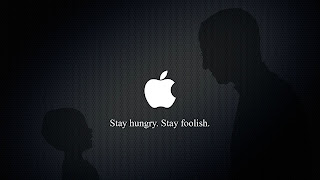 Stay Hungry Stay Footlish Steve Job Silhoutte Apple Logo HD Wallpaper