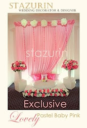 Pelamin Mini Eksklusif Pertunangan/Engagement/Pernikahan Pelamin Lovely warna pink &  Off White
