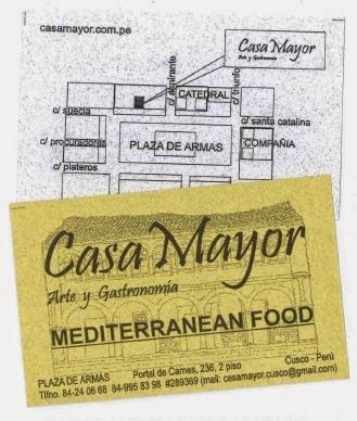 imagen de tarjeta de datos del restaurante Casa Mayor Cusco Perú