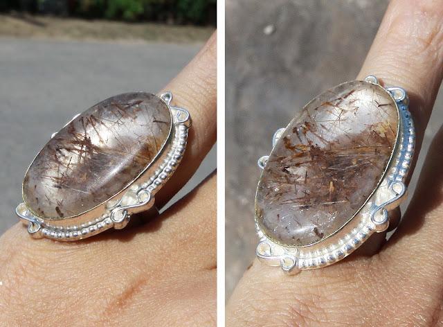 Batu permata Jarum Mas - rutilated quartz