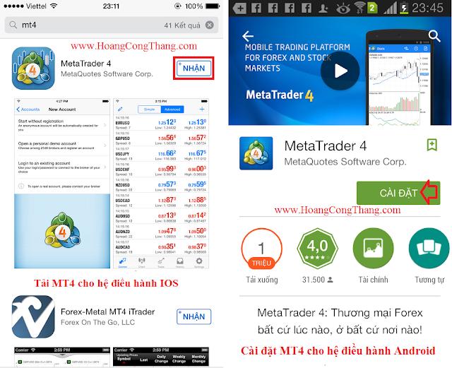 Cách cài đặt và sử dụng MT4 IronFX trên điện thoại Android IOS