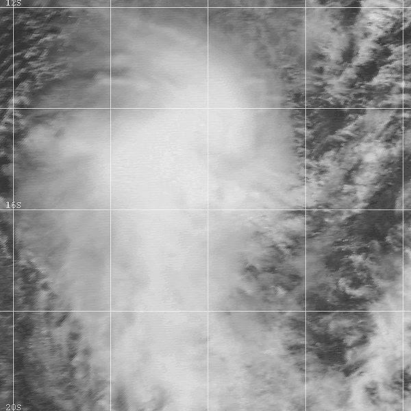 Image satellite de la tempête tropicale Damienne