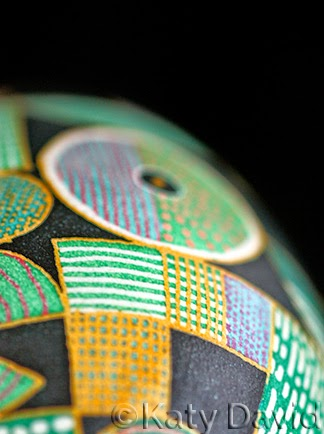 Friday Egg: Patchwork ©Katy David Goose Egg Pysanky