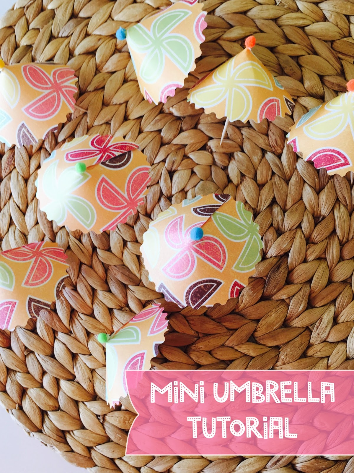 Mini Paper Umbrella DIY- The Style Sisters