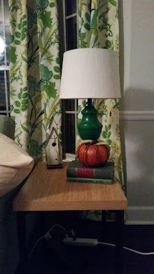 Emerald green lamps spray painted