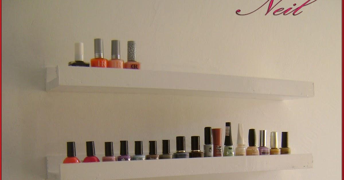 Chez neil id e de rangements vernis ongles - Rangement mural vernis a ongles ...