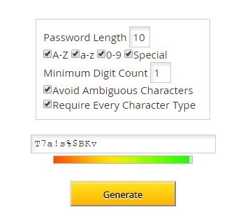 lastpass generate password