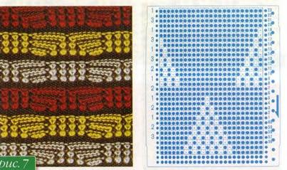 Перфокарта машинного вязания для пресса