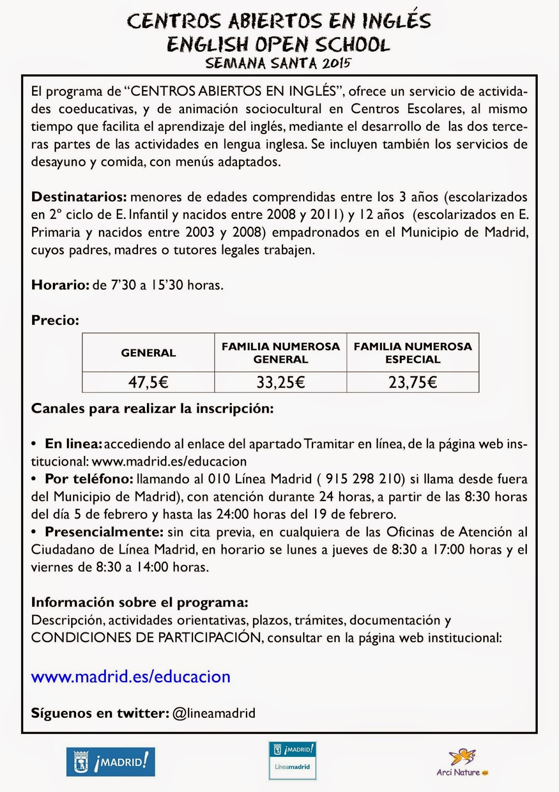 Apa del c e i p reina victoria madrid informaci n campamentos centros abiertos en ingl s - Oficinas de atencion a la ciudadania linea madrid ...