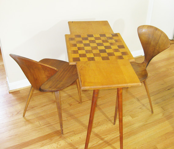 Modern Chess Table gotcha modern!: mid century mod checkers / chess table