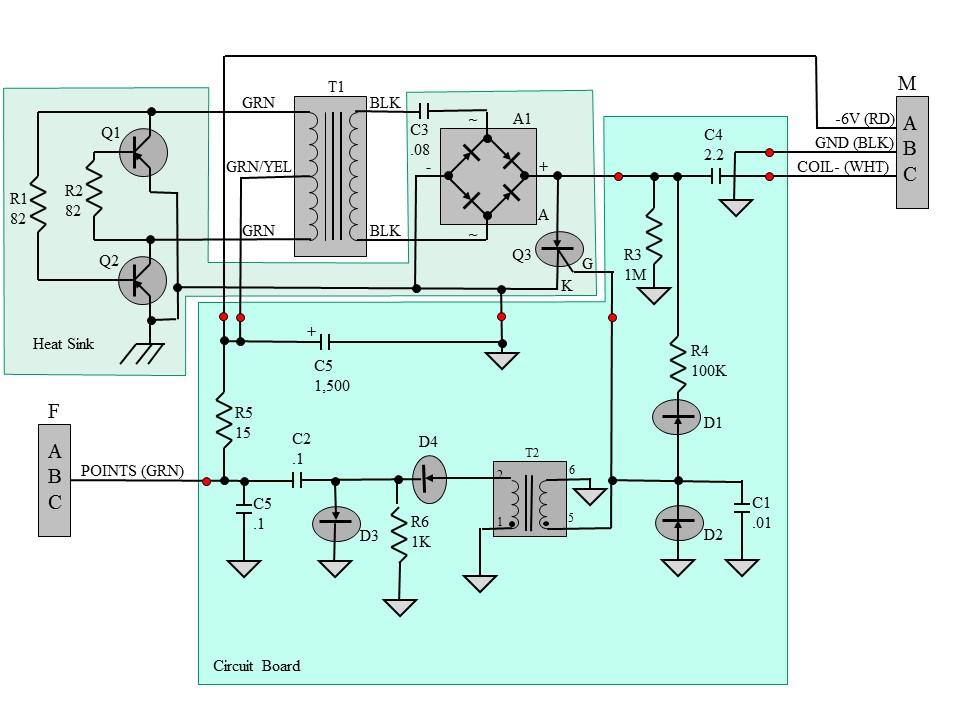 StudeM15A-20: 6 Volt Positive Ground CDI